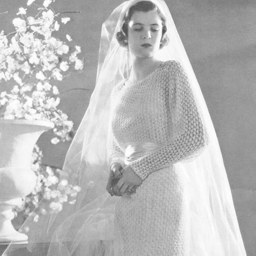 Vintage Crochet Velveen Bridal Dress Pattern, Heritage Vintage ...